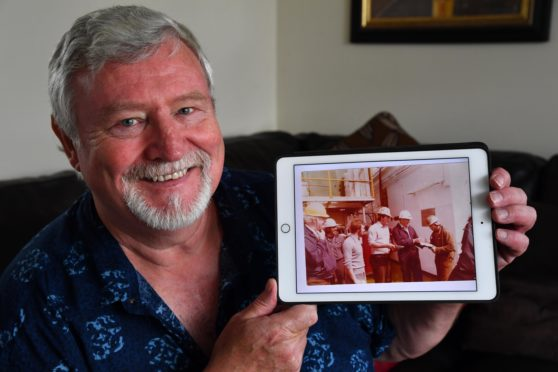 ALAN ROY WITH THE PHOTO OF THE DAY HE MET NEIL ARMSTRONG