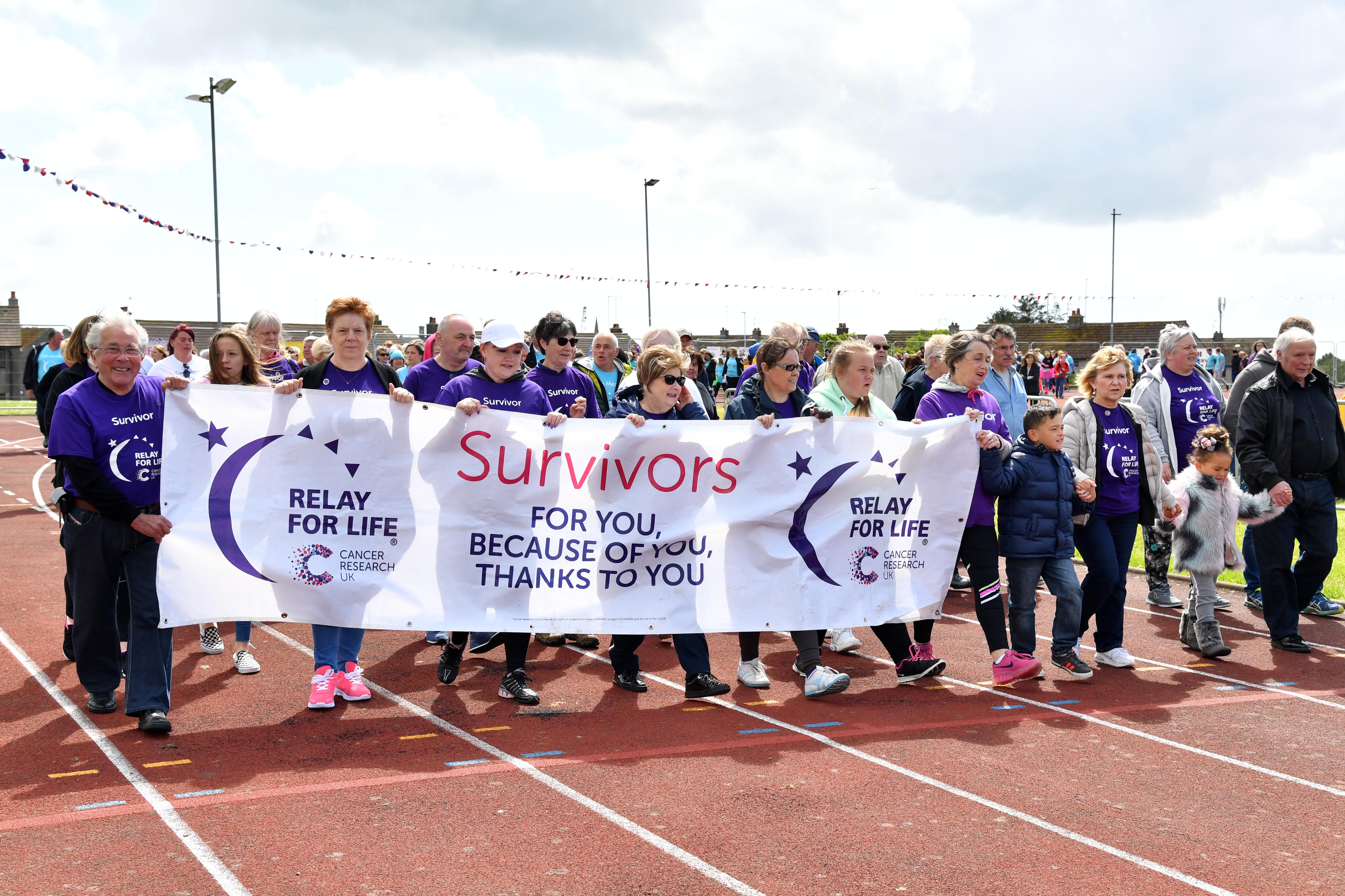 Relay for Life at Catto Park in Peterhead.