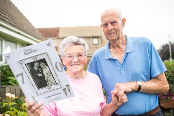 Dora and Bert Brander, from Mosstodloch, were married in 1949.