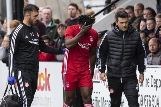 Aberdeen's Greg Leigh is only just returning from an ankle injury.