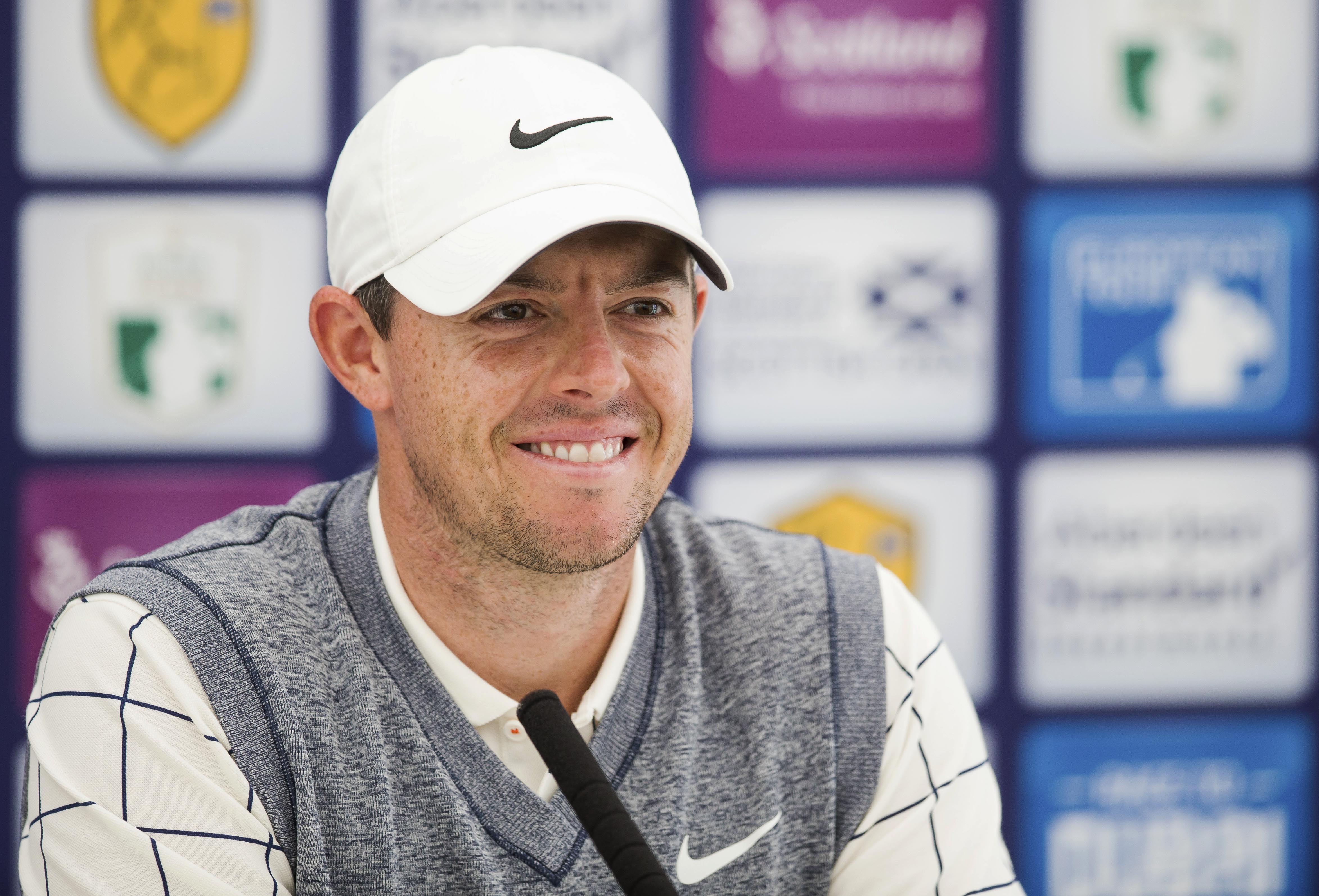 Rory McIlroy addresses the media ahead of the Scottish Open.