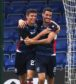 13/07/19 BETFRED CUP GROUP B ROSS COUNTY v MONTROSE (4-1) GLOBAL ENERGY STADIUM - DINGWALL Ross County's Ross Stewart celebrates making it 2-0 with teammate Brian Graham (R)