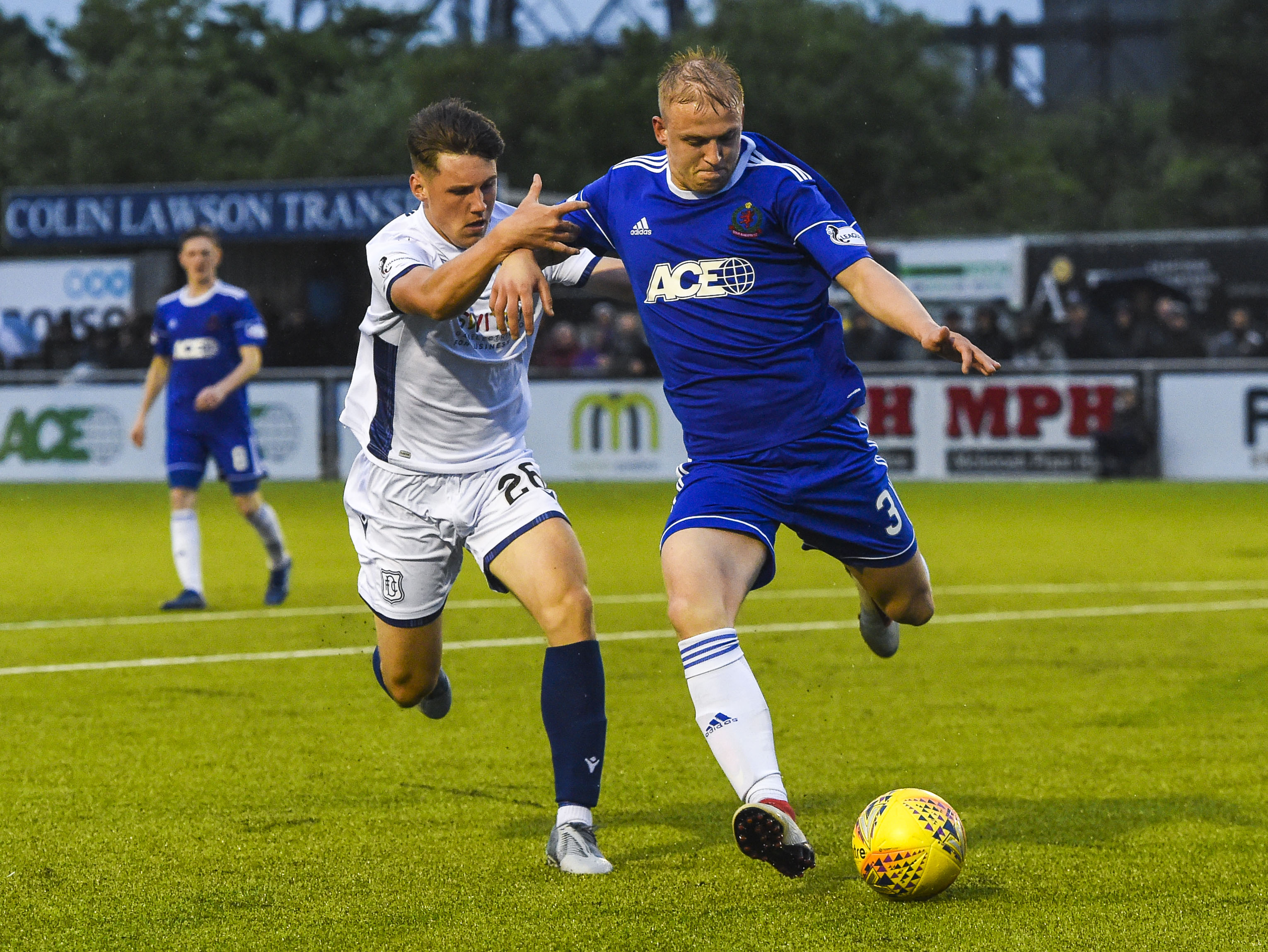 Cove Rangers Harry Milne (right) and Josh Mulligan in action.