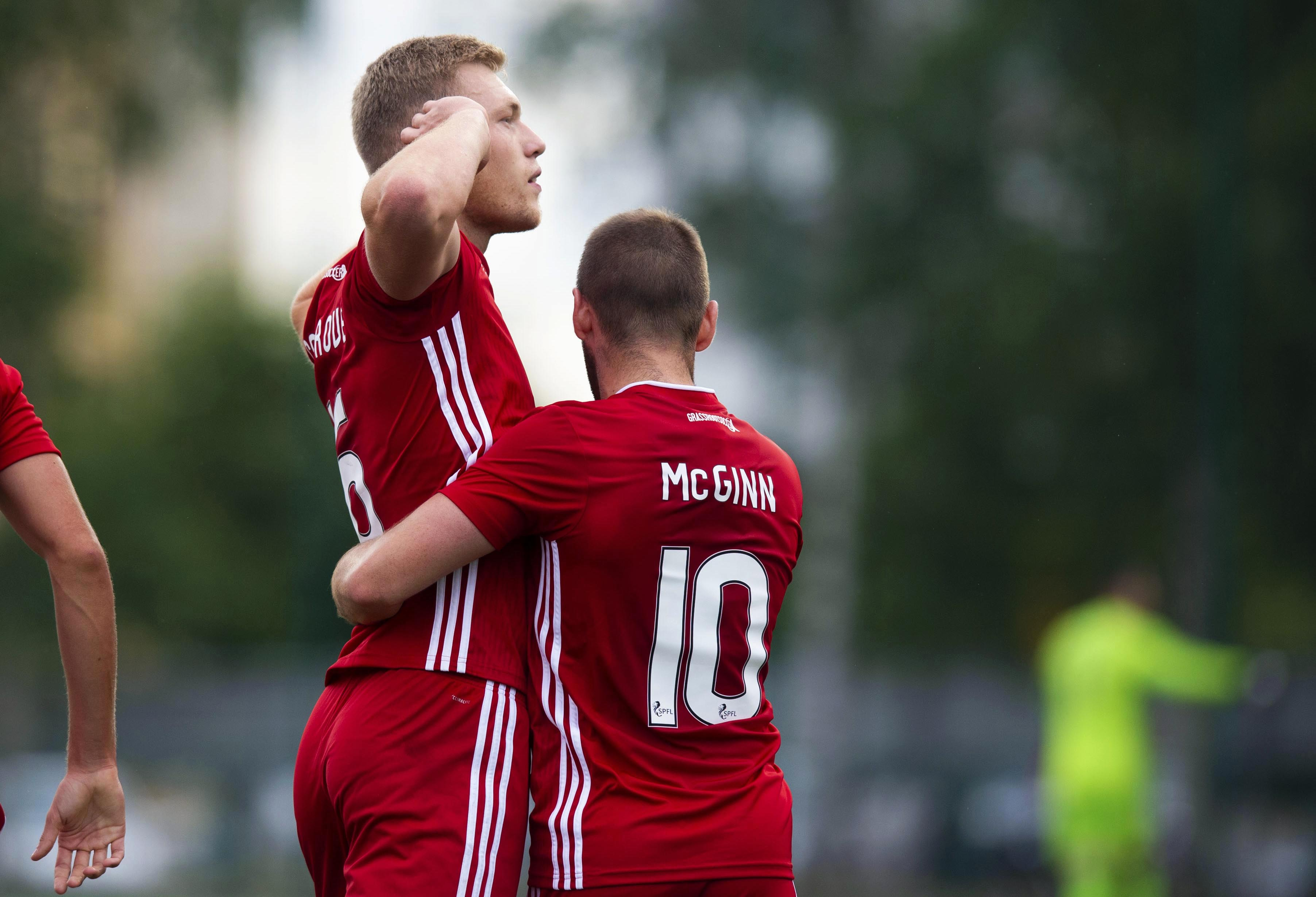 Sam Cosgrove netted from the spot for his third European goal.