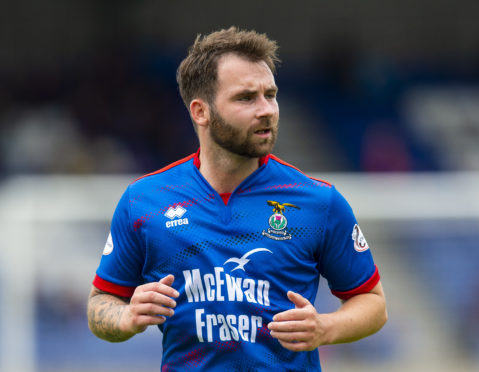 James Keatings in action for Inverness