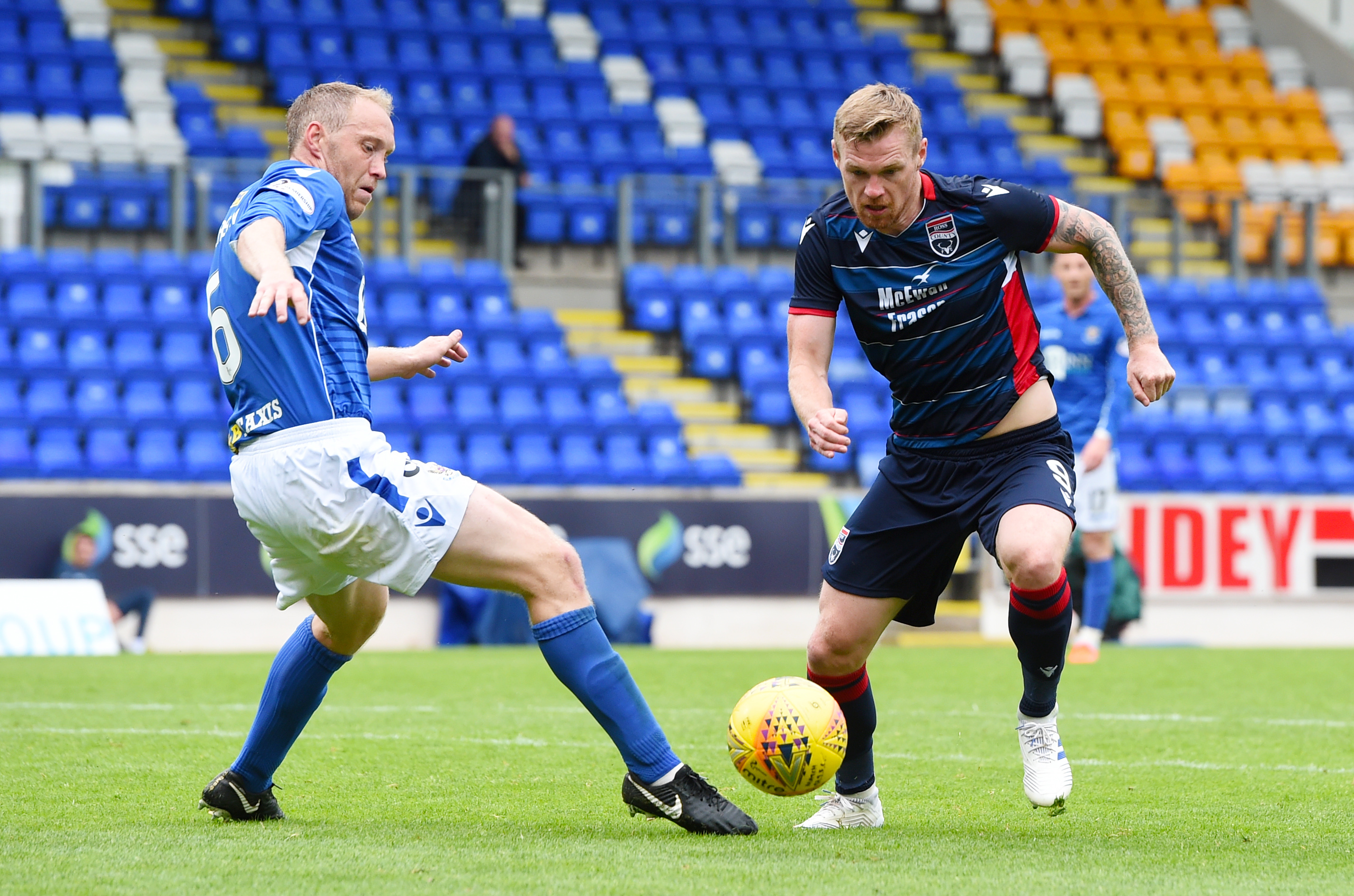 Billy McKay scored twice for Ross County at McDiarmid Park