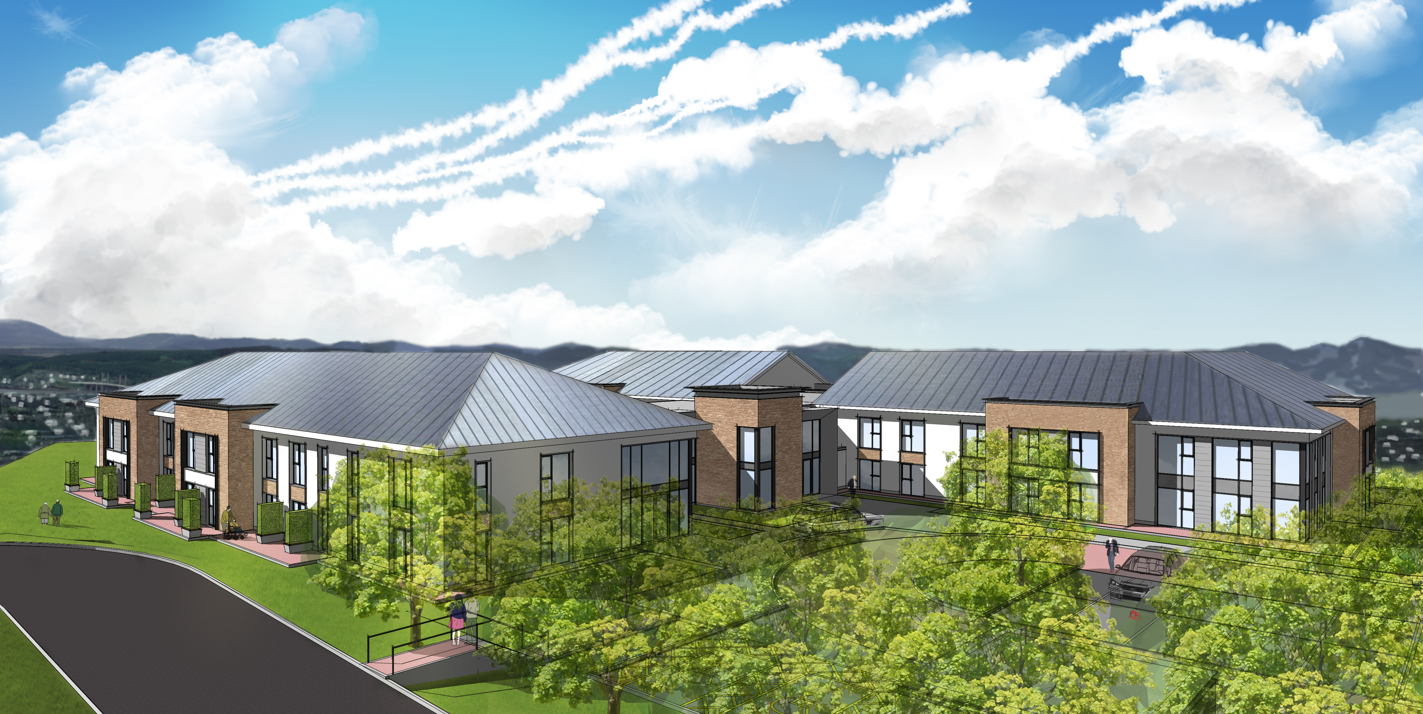 An artist's impression of how the new care home and facility will look for Inverness providing a much needed local care service in the area