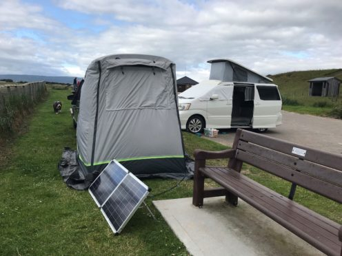 Locals are upset by campers ignoring prohibition signs to take up residence at Dornoch beach