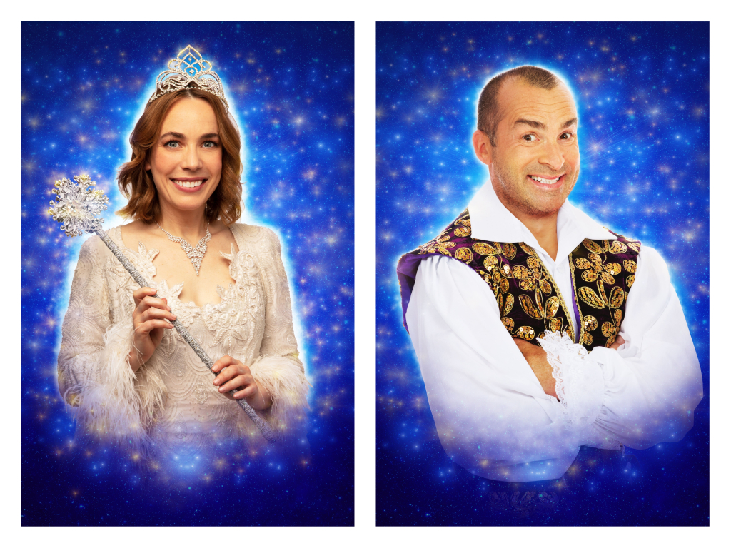 Laura Main, left, and Louis Spence, right