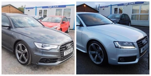 The stolen vehicles from Top Cars Harbour Road in Inverness