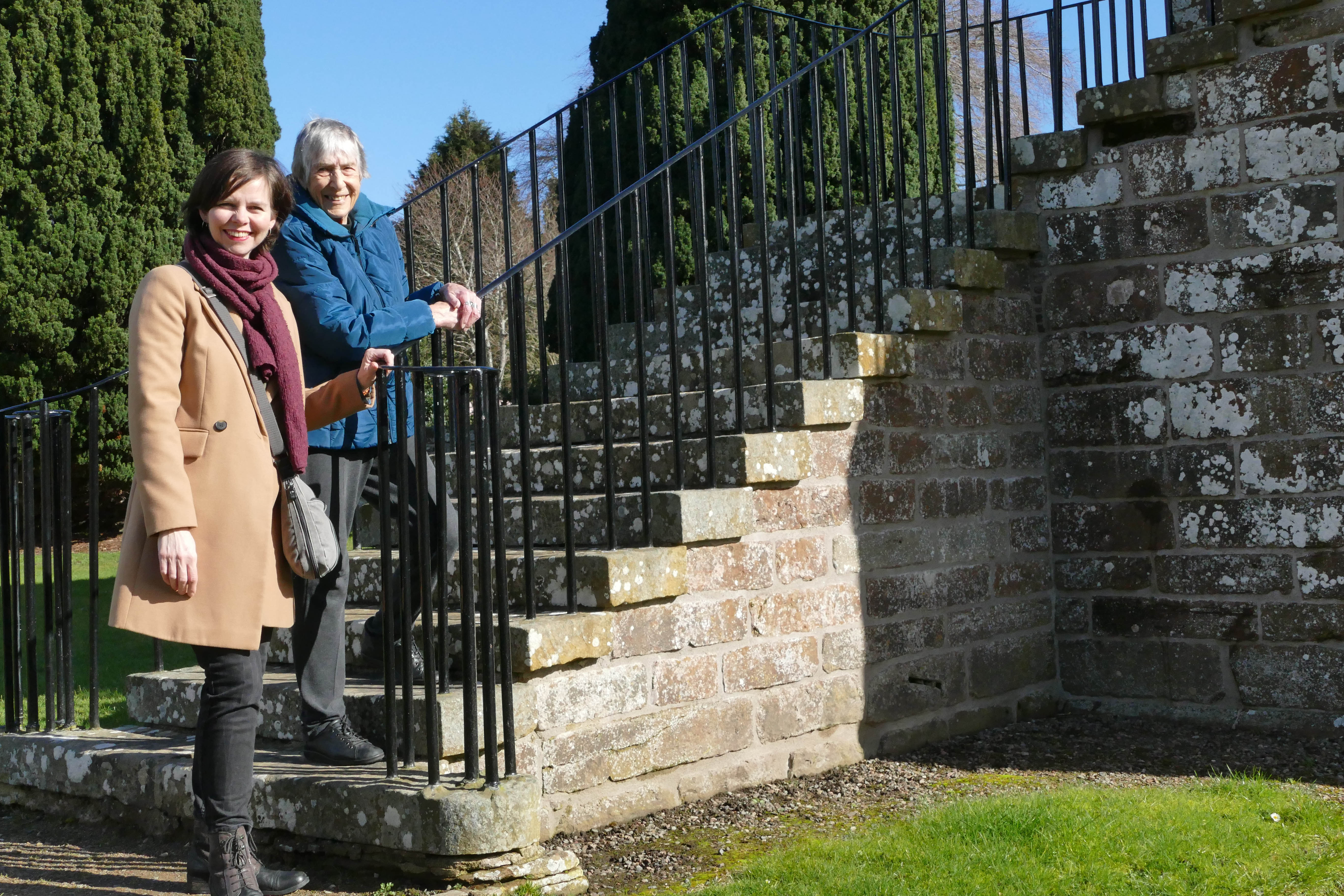 Author Elizabeth Sutherland with local artist Rachel Bevan Baker