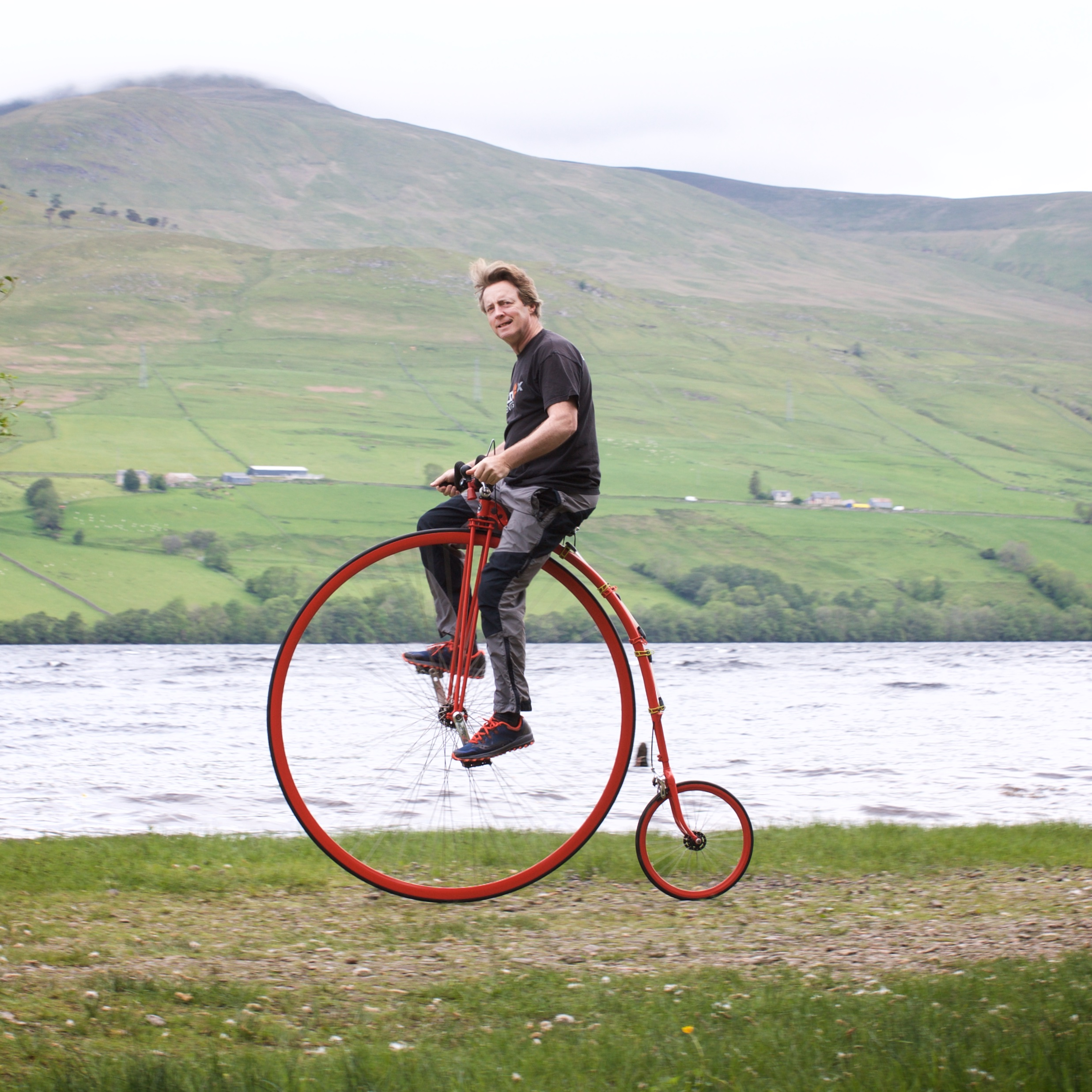 David Fox-Pitt will cycle the iconic route on his penny farthing.