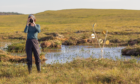 Hannah Imlach filming in the Flow Country in Caithness and Sutherland, the inspiration for a show taking place in Edinburgh's Botanical Gardens
