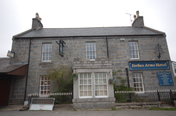 The Forbes Arms Hotel at the Bridge of Alford is currently closed