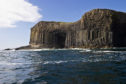 Staffa and Fingal's Cave in Scotland