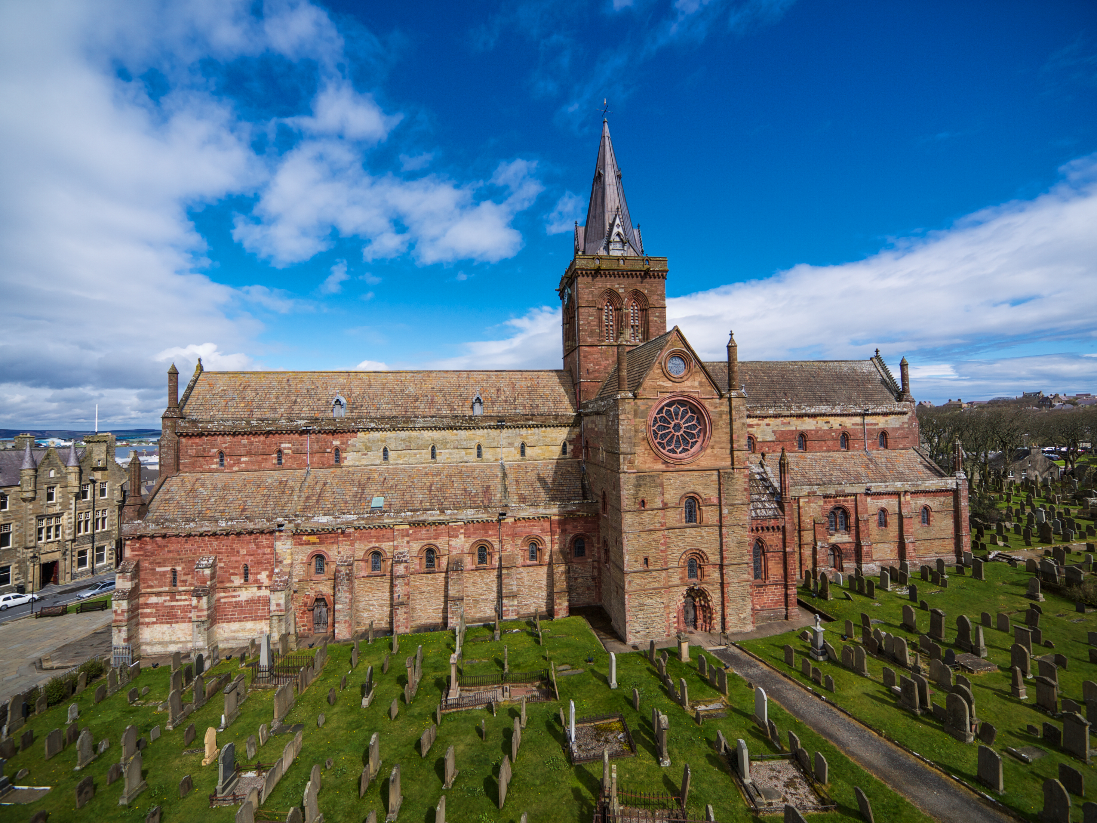 St Magnus Cathedral in Kirkwall, Orkney.