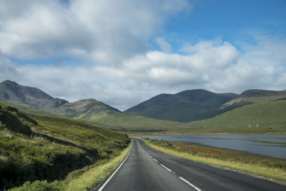 Landscape of the Isle of Sky in Scotland