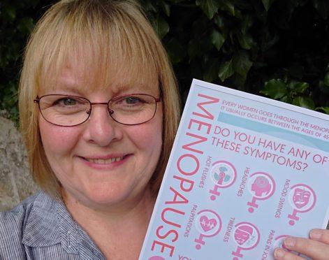 Karen Kenning organised the menopause cafe in Elgin