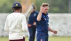 Ferguslie batsman Taimoor Ahmad was bowled out by Stoneywood bowler Garreth Wolmarans.