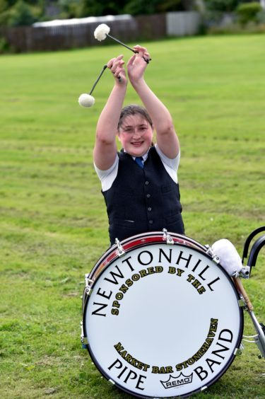 Newtonhill drummer Iona Jessiman