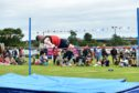 High jumper Fraser Davidson at Stonehaven Highland Games.  Pictures by Colin Rennie