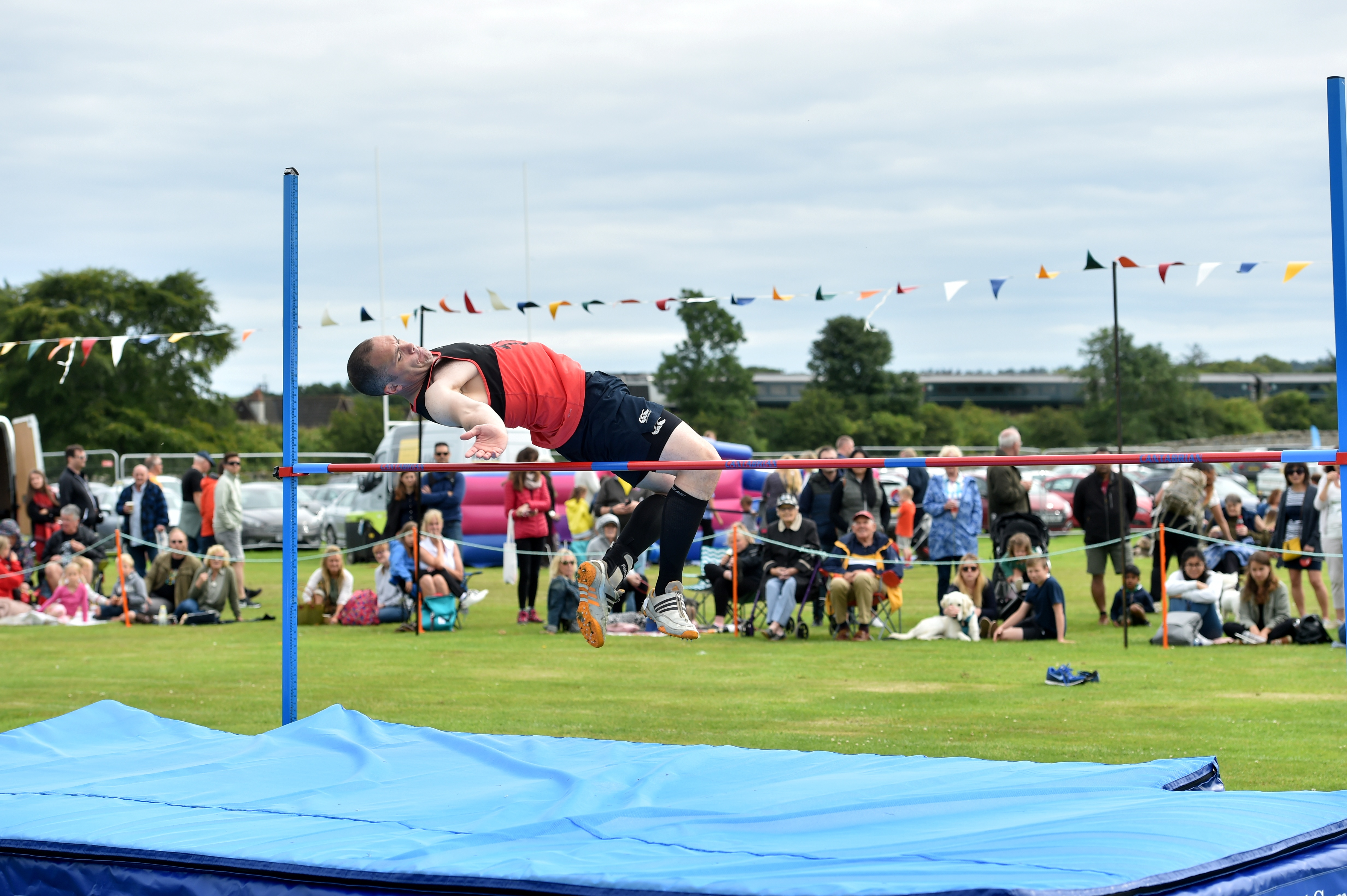 High jumper Fraser Davidson at Stonehaven Highland Games.  Pictures by Colin Rennie