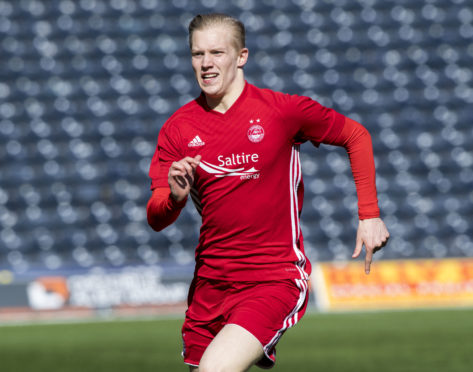Miko Virtanen in action for Aberdeen