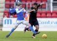 St Johnstone forward John Robertson (left) has joined Cove on loan.
