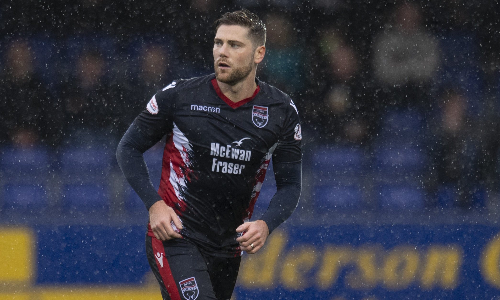Ian Vigurs in action for Ross County.