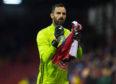 Aberdeen goalkeeper Joe Lewis.