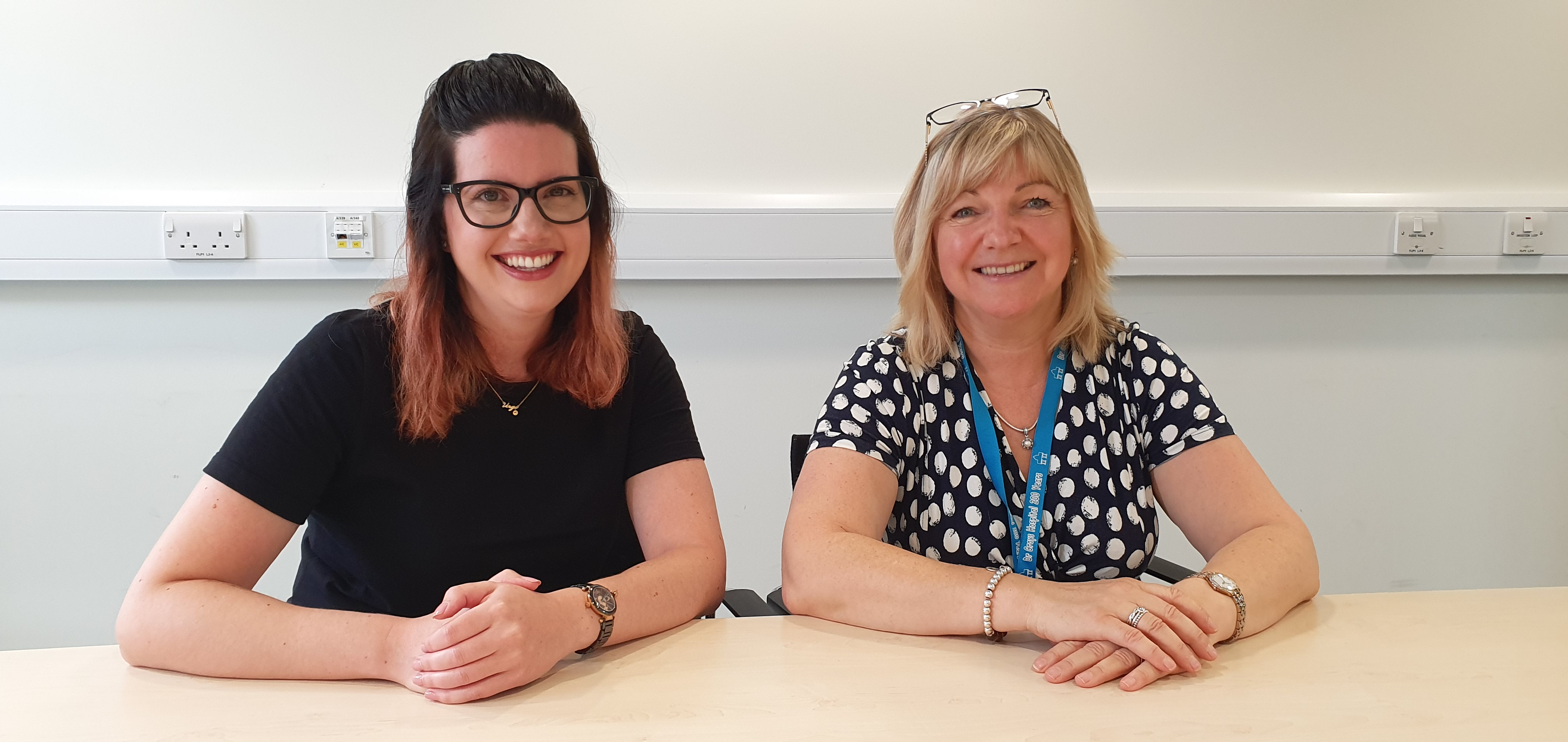 Tara French, programme director of health and wellbeing at Glasgow School of Art, and Pam Gowans, chief officer of Health and Social Care Moray.
