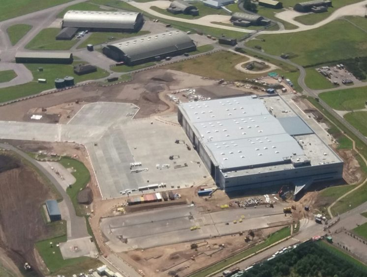 Images show the development works at the Poseidon facility at RAF Lossiemouth