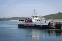 A CalMac ferry serving the Outer Hebrides.