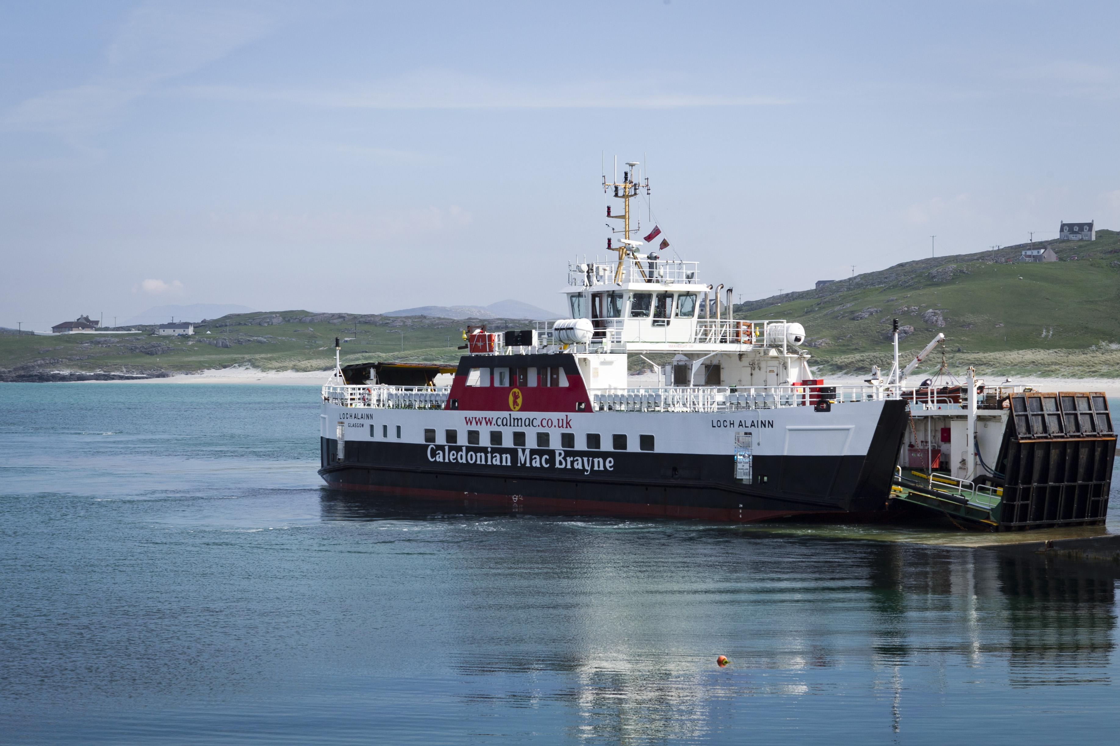 A CalMac ferry serving the Outer Hebrides.