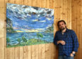 Swedish-born artist David Sandum will rock up to the National Trust for Scotland (NTS) site tomorrow to begin filling the blank walls of the Sawyer Gallery