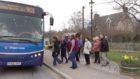Braemar residents boarding the shuttle bus