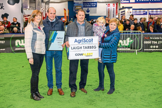 The 2018 Dairy Farm of the Year Winner from Laigh Tarbeg of Cumnock