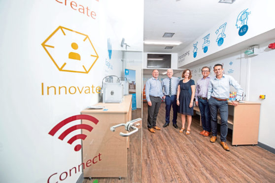 Aberdeen , Scotland, Tuesday, 6 August  2019    Barclays Eagle Lab at ONE TechHub, Aberdeen  Picture by Abermedia / Michal Wachucik