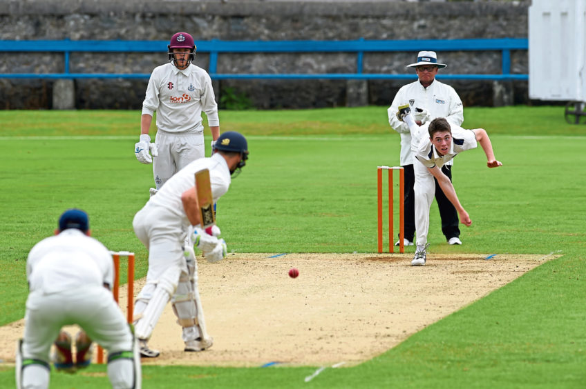 Eastern Premier Division cricket match between Aberdeenshire and Forfarshire at Mannofield.