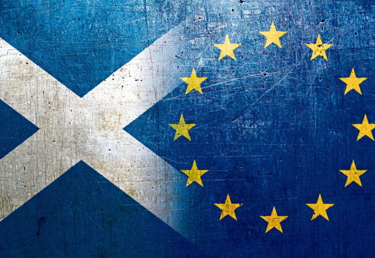 National flags on the grunge metal background scotland europe flag 2407