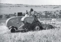 One of the 20 self propelled International 123 SPs brought into the UK in 1944 as part of Lease Lend at work somewhere in England.