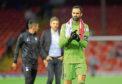 15/08/19 UEFA EUROPA LEAGUE QUALIFIER 3RD ROUND 2ND LEG HNK RIJEKA v ABERDEEN PITTODRIE - ABERDEEN Aberdeen captain Joe Lewis at full time