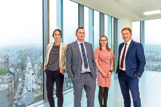 CbRE's team handling business rates revaluation appeals. from left, moira Gordon, brian Rogan, kirsty Gordon and derren mcRae