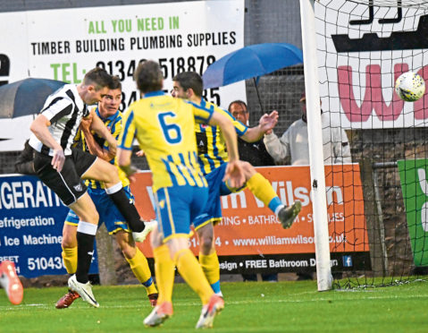 BROCH'S PAUL CAMPBELL SCORES THE OPENER