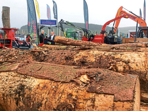 The latest equipment and ideas were on show at Forestry Expo in South Lanarkshire. Photograph by Mike Assenti