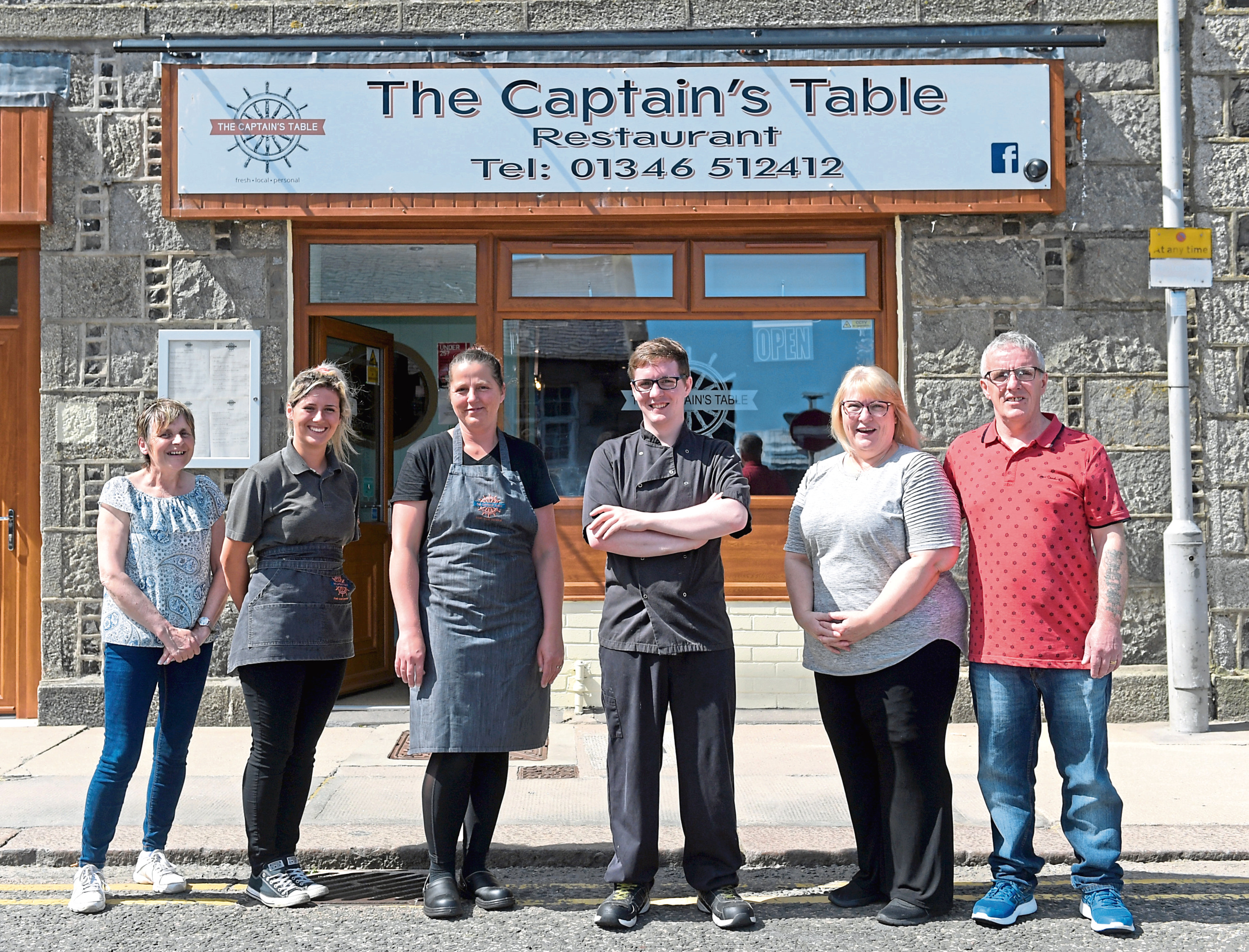 From left, Colleen Rennie, Rachel Crawford, Birute , Chef Josh Masson and owners Julie and Joe Masson.  Picture by KATH FLANNERY