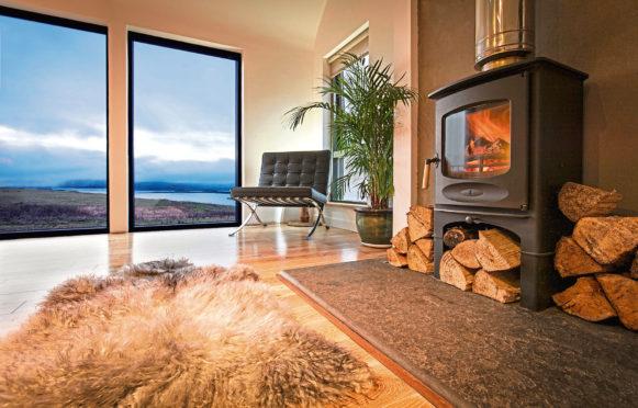 A sheepskin rug from Skyeskyns in Skye.
