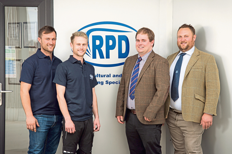 Daniel Duxbury and John-Paul Duxbury from RPD, Tim McDonald from ANM and Ross Williams from the Aberdeen Fatstock Association.