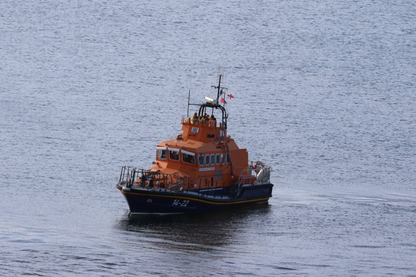 Wick Lifeboat in attendance