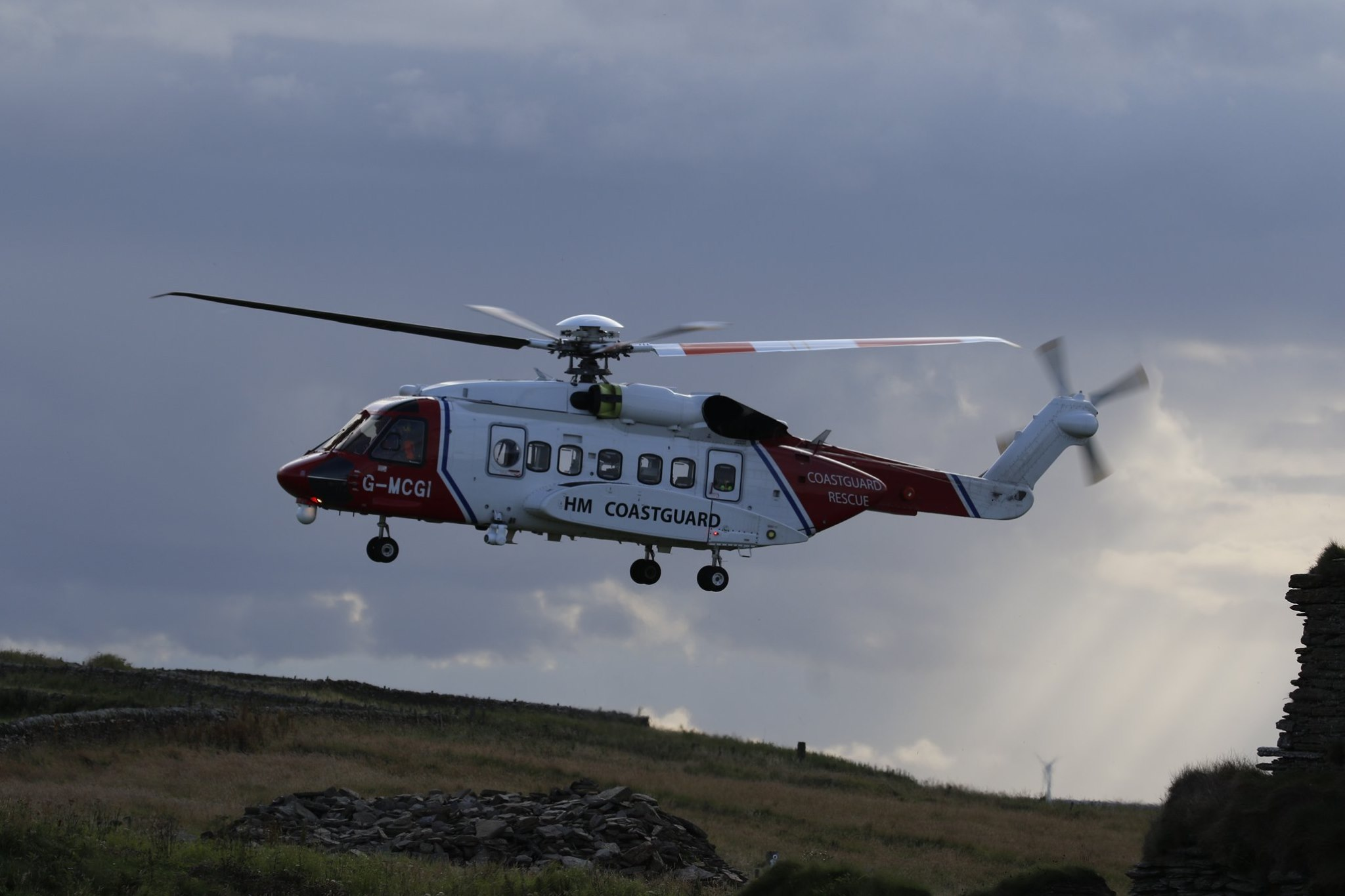 Coastguard helicopter Rescue 900 from Sumburgh